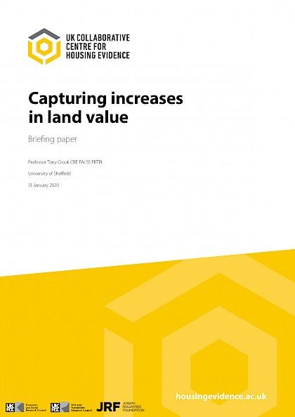 Capturing increases in land value