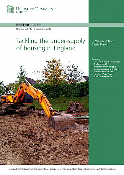 Tackling the under-supply of housing in England