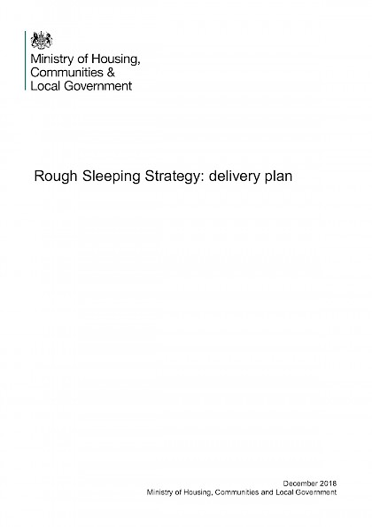 Rough Sleeping Delivery Plan