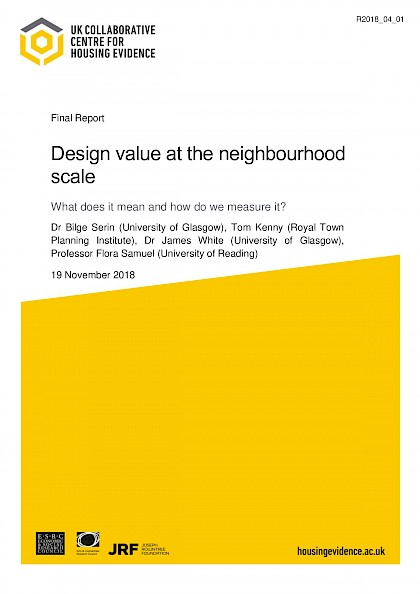 Design Value at the neighbourhood scale