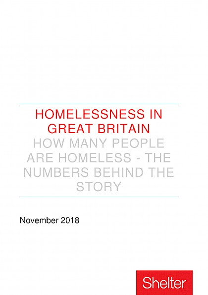 Homelessness in Great Britain - The numbers behind the story