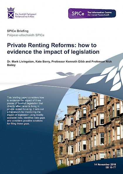 Private Renting Reforms: How to evidence the impact of legislation