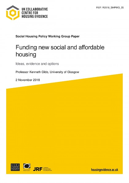 Funding new social and affordable housing.