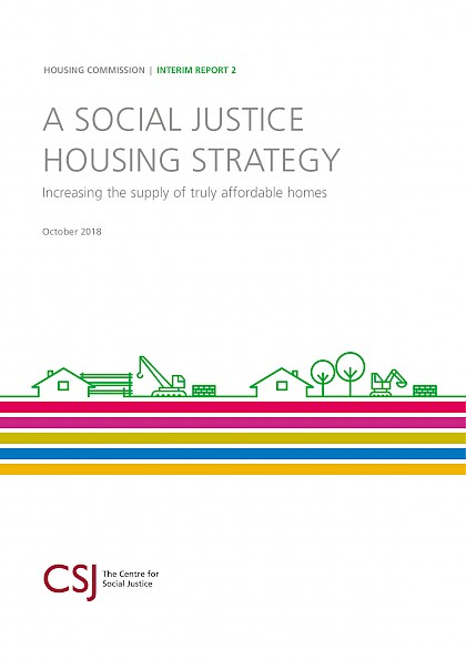A Social justice Housing Strategy, interim report