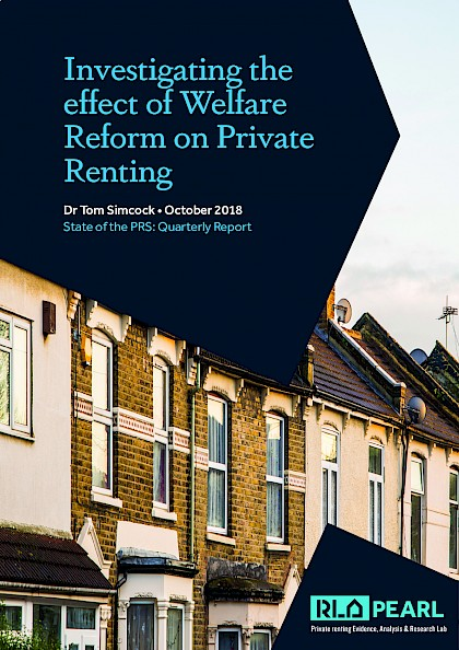 Investigating the effect on welfare reform on private renting