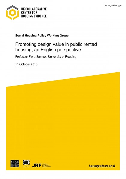 Promoting design value in  public rented housing, an English perspective