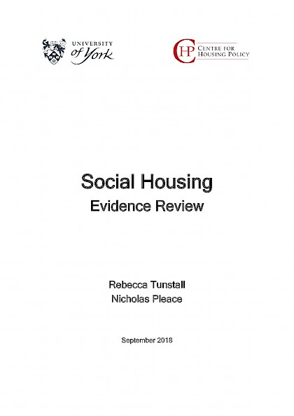 Social Housing, Evidence Review