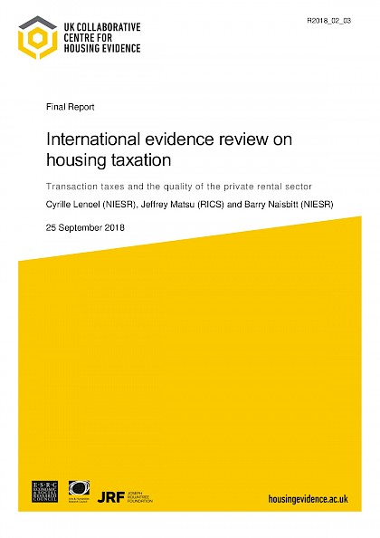 International Evidence Review of Housing Taxation