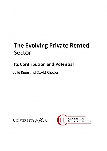 The Evolving Private Rented Sector