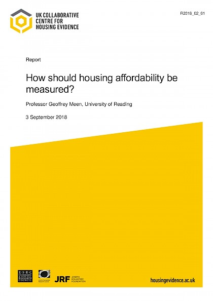 How should housing affordability be measured?