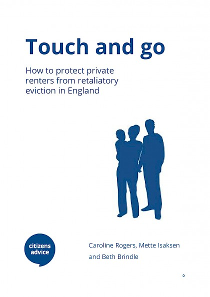 Touch and go: how to protect private renters from retaliatory eviction in England