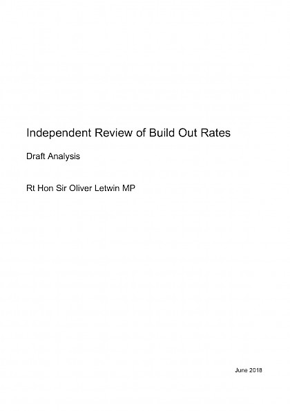 Independent Review of Build Out Rates