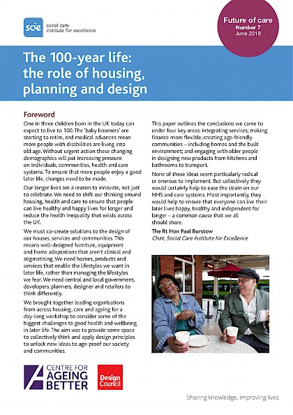 The 100-year life: the role of housing, planning and design