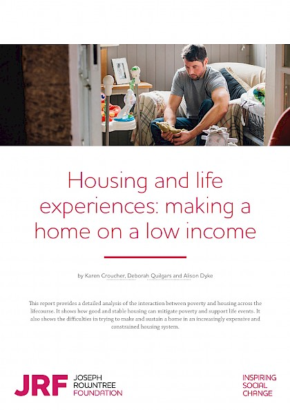 Housing and life experiences: making a home on a low income