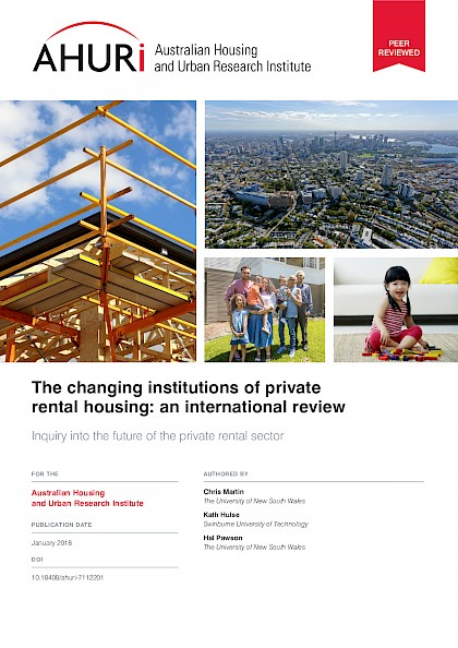 An international review of the changing institutions of private rental housing.