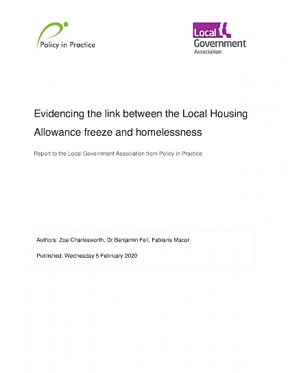 Evidencing the link between the Local Housing Allowance freeze and homelessness