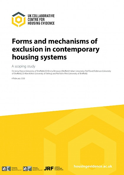 Forms And Mechanisms Of Exclusion In Contemporary Housing Systems: A Scoping Study