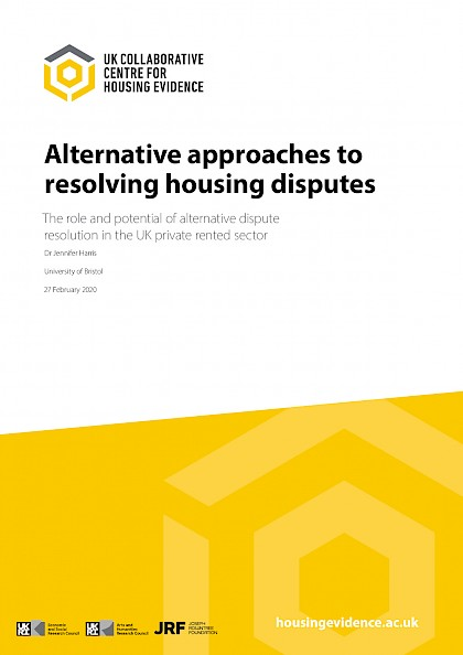 Alternative approaches to resolving housing disputes