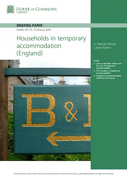 Households in temporary accommodation (England)