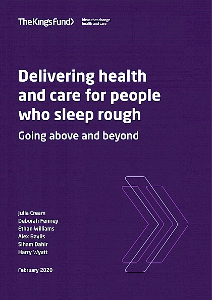Delivering health and care for people who sleep rough: going above and beyond