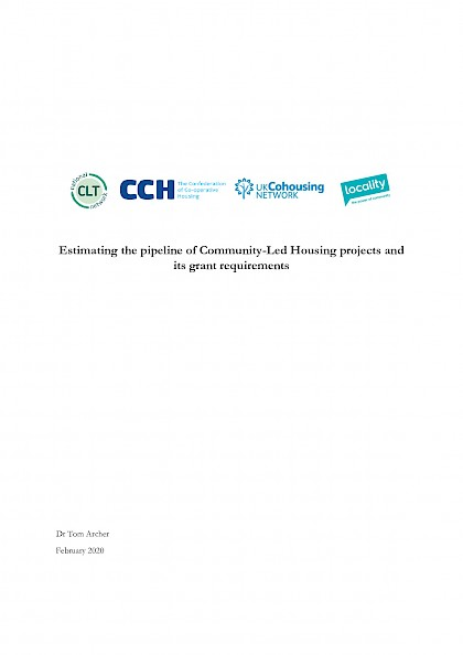 Estimating the pipeline of Community-Led Housing projects and its grant requirements