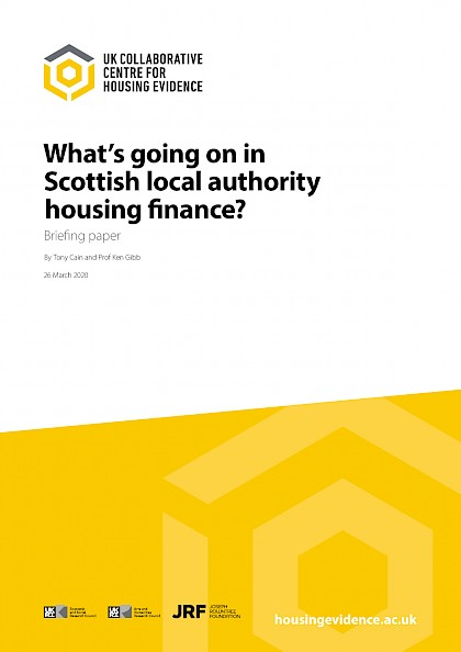 What's going on in Scottish local authority housing finance?