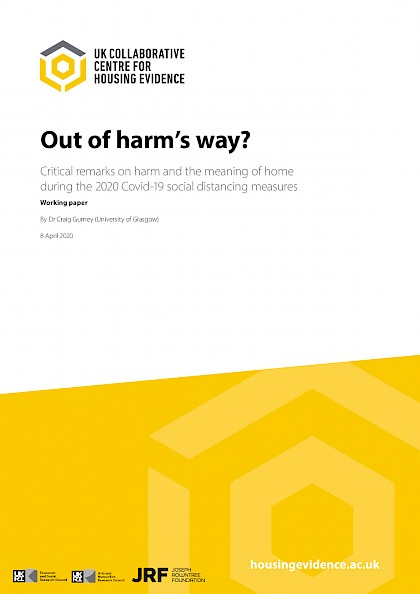 Out of harm's way - critical remarks on harm and the meaning of home during the 2020 Covid-19 social distancing measures