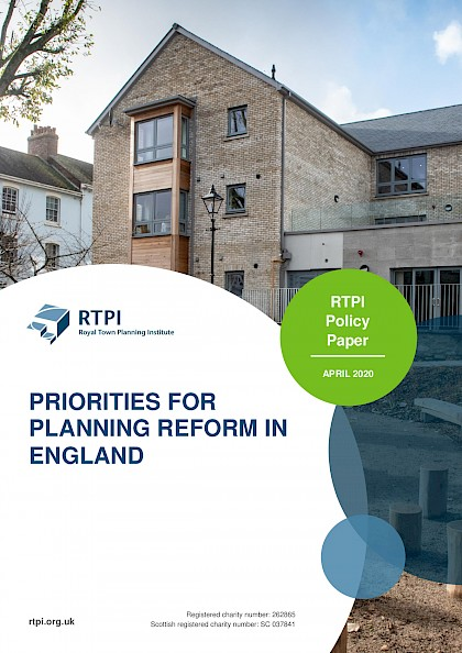 Priorities for Planning Reform in England