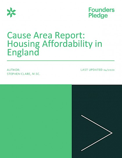 Cause Area Report: Housing Affordability in England