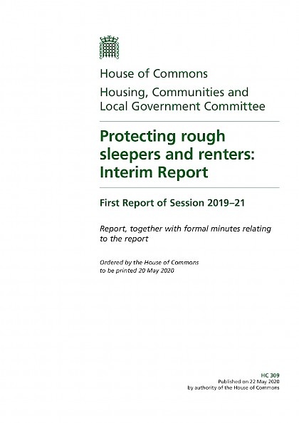 Protecting rough sleepers and renters: Interim Report