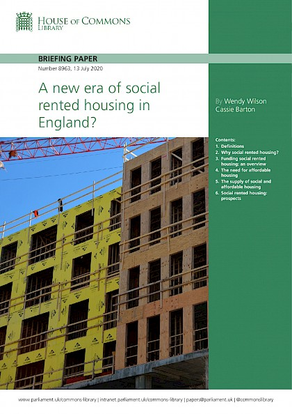 A new era of social rented housing in England?