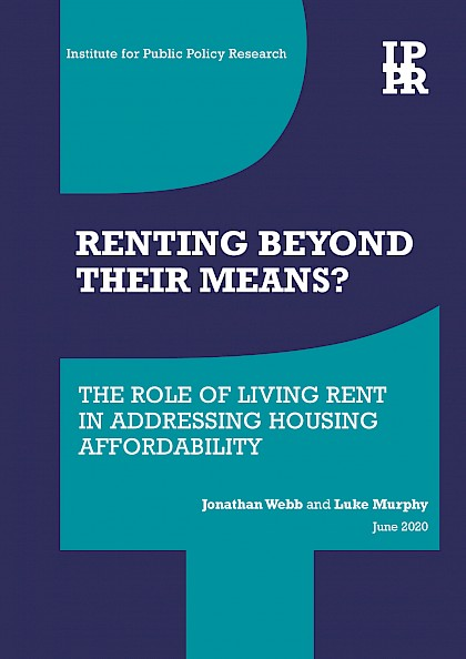 Renting beyond their means? The role of living rent in addressing housing affordability