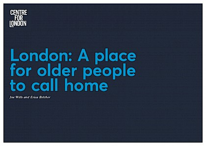 London: A place for older people to call home