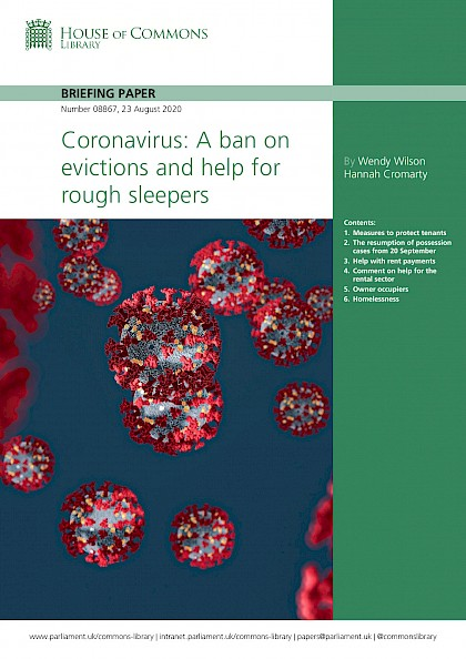 Coronavirus: A ban on evictions and help for rough sleepers