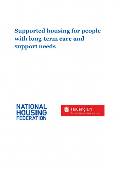 Ensuring the delivery of supported housing for people with long-term care and support needs