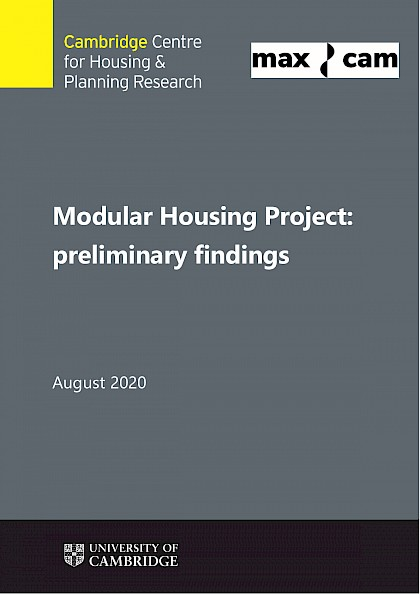 Modular Housing Project: preliminary findings