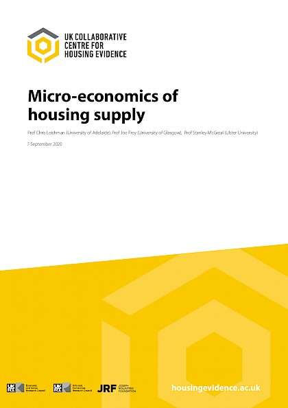 The micro-economics of private housing development and land markets