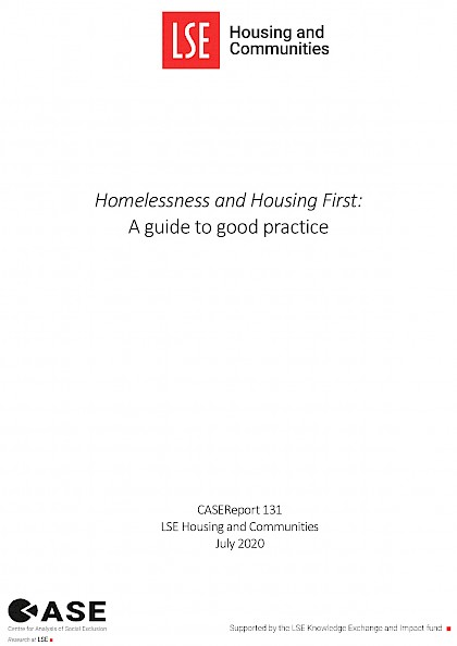 Homelessness and Housing First: A guide to good practice
