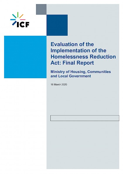 Independent evaluation of the implementation of the Homelessness Reduction Act