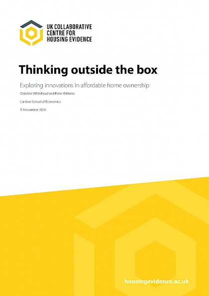 Thinking outside the box – exploring innovations in affordable home ownership