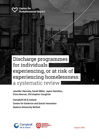 """Discharged back to the streets"": how can we ensure people leaving institutions have a home?"