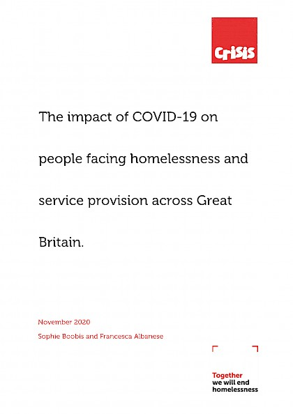 The impact of COVID-19 on people facing homelessness and service provision across Great Britain