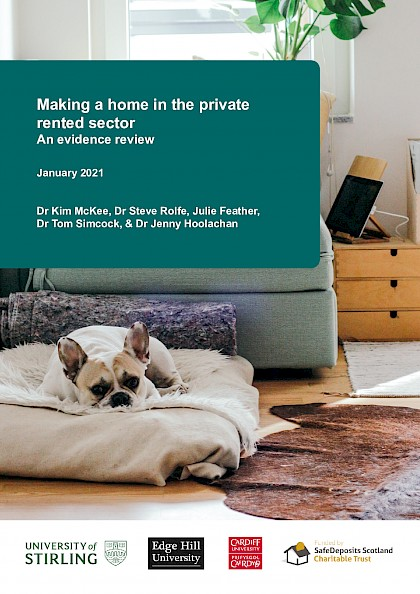 Making a House a Home in the Private Rented Sector