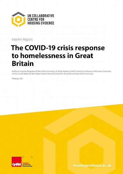 The covid-19 crisis response to homelessness in Great Britain