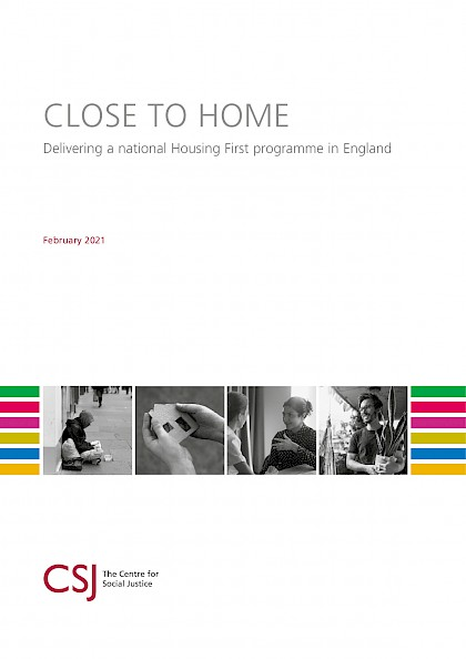 Close to Home: delivering a national housing first programme in England