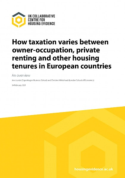 How taxation varies between owner-occupation, private renting and other housing tenures in European countries
